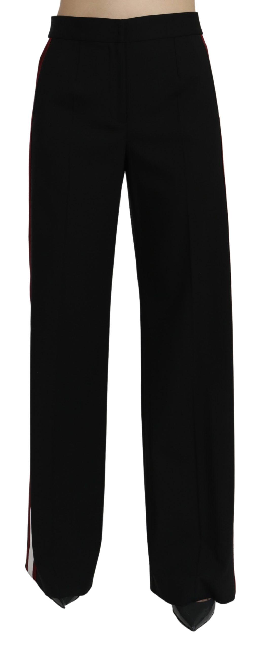 Dolce & Gabbana Women's High Waist Wool Trouser Black PAN71066 - IT40|S