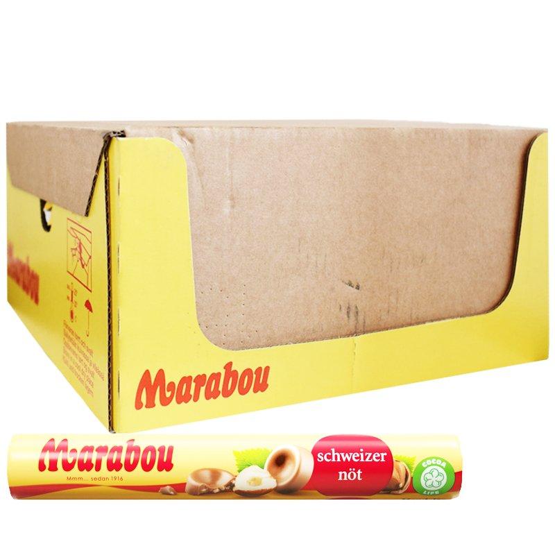 Marabou Sveitsinpähkinä Nappirulla 28x76g - 55% alennus