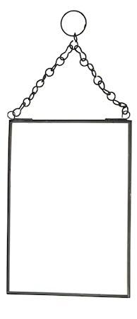 Hengende speil 13x18 cm - Svart