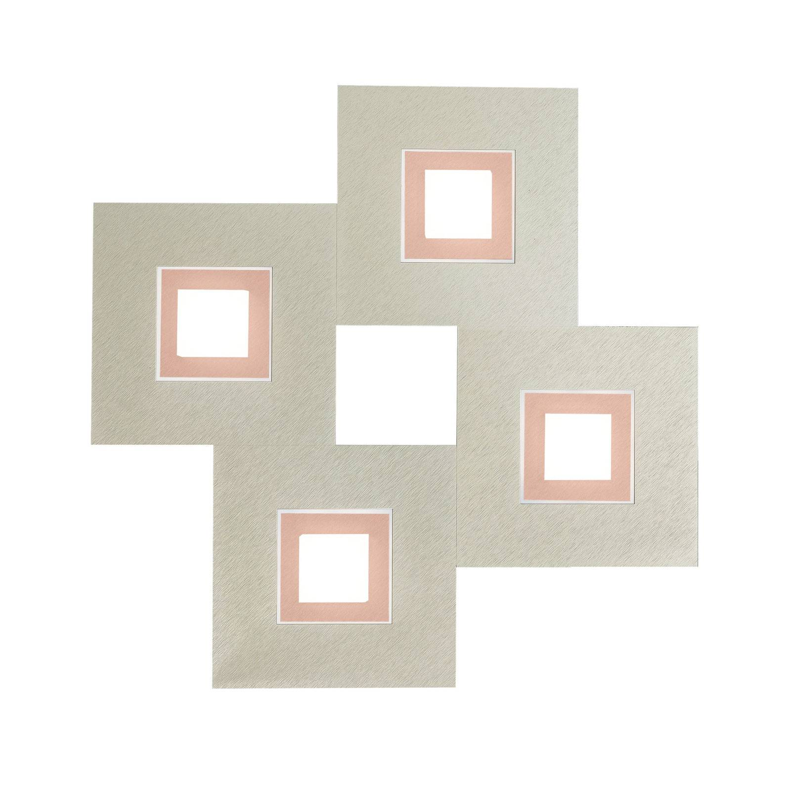 GROSSMANN Karree 4-lamppuinen 50x50, kupari