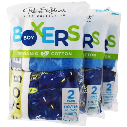 Kalsonger Boxers Barn 110-116 Blå & blå 6-pack - 46% rabatt