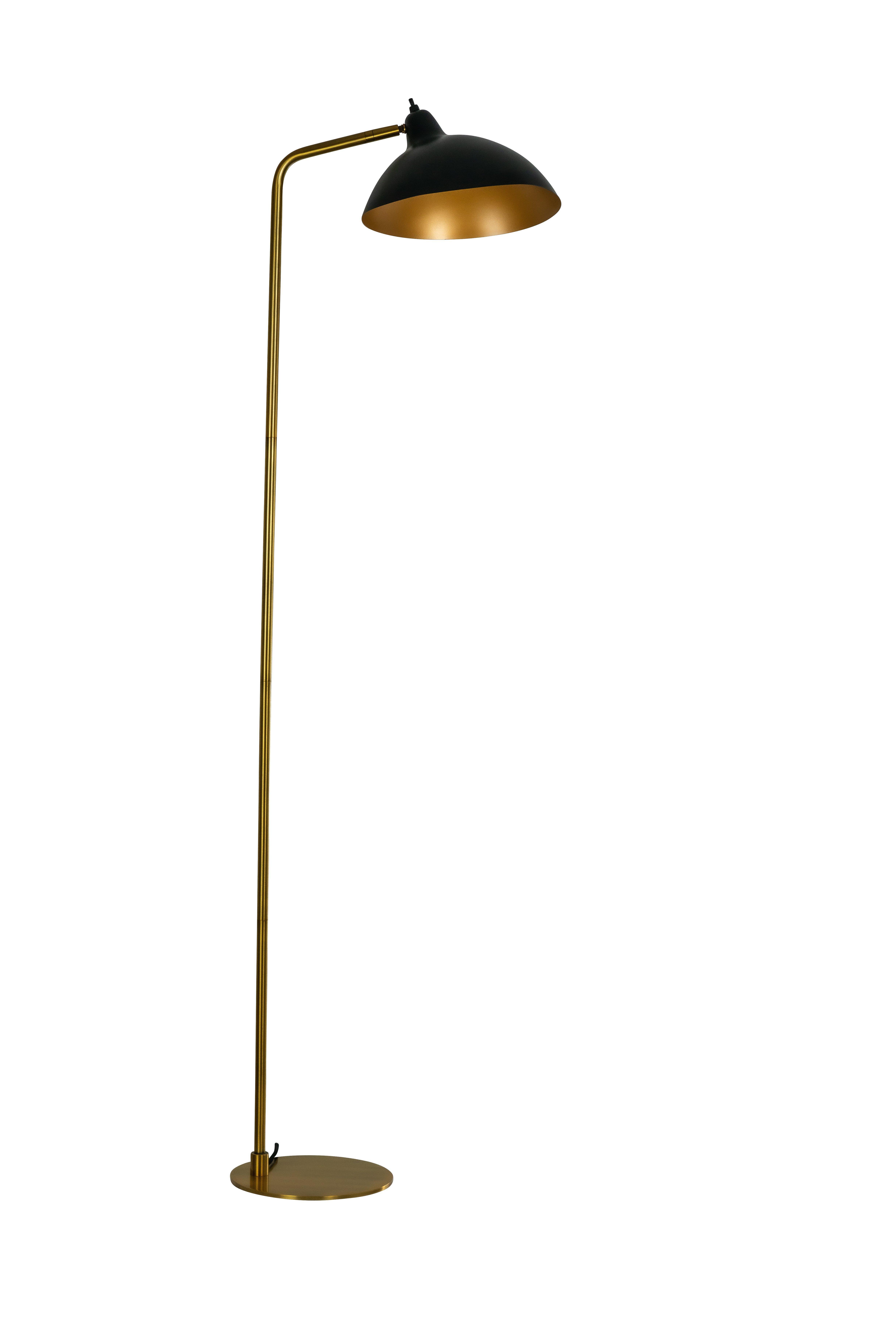 Dyberg-Larsen - Futura Floor Lamp - Black/Brass (7221)