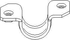 Hållare, stabilisatorkopplingsstång, framaxel höger
