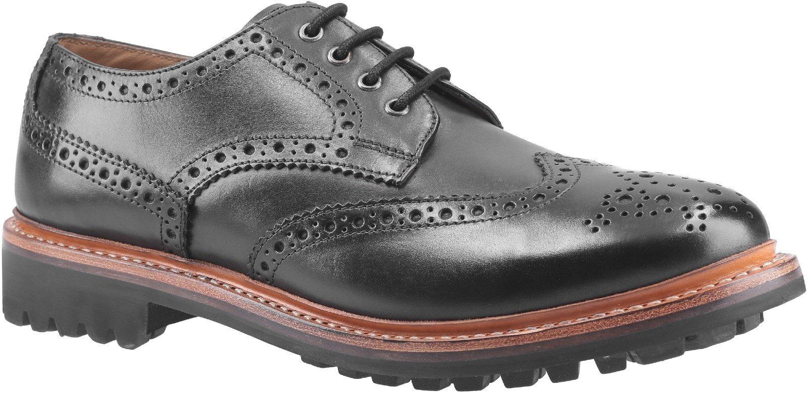 Cotswold Men's Quenington Commando Welt Brogue Shoe Various Colours 29257 - Black 7