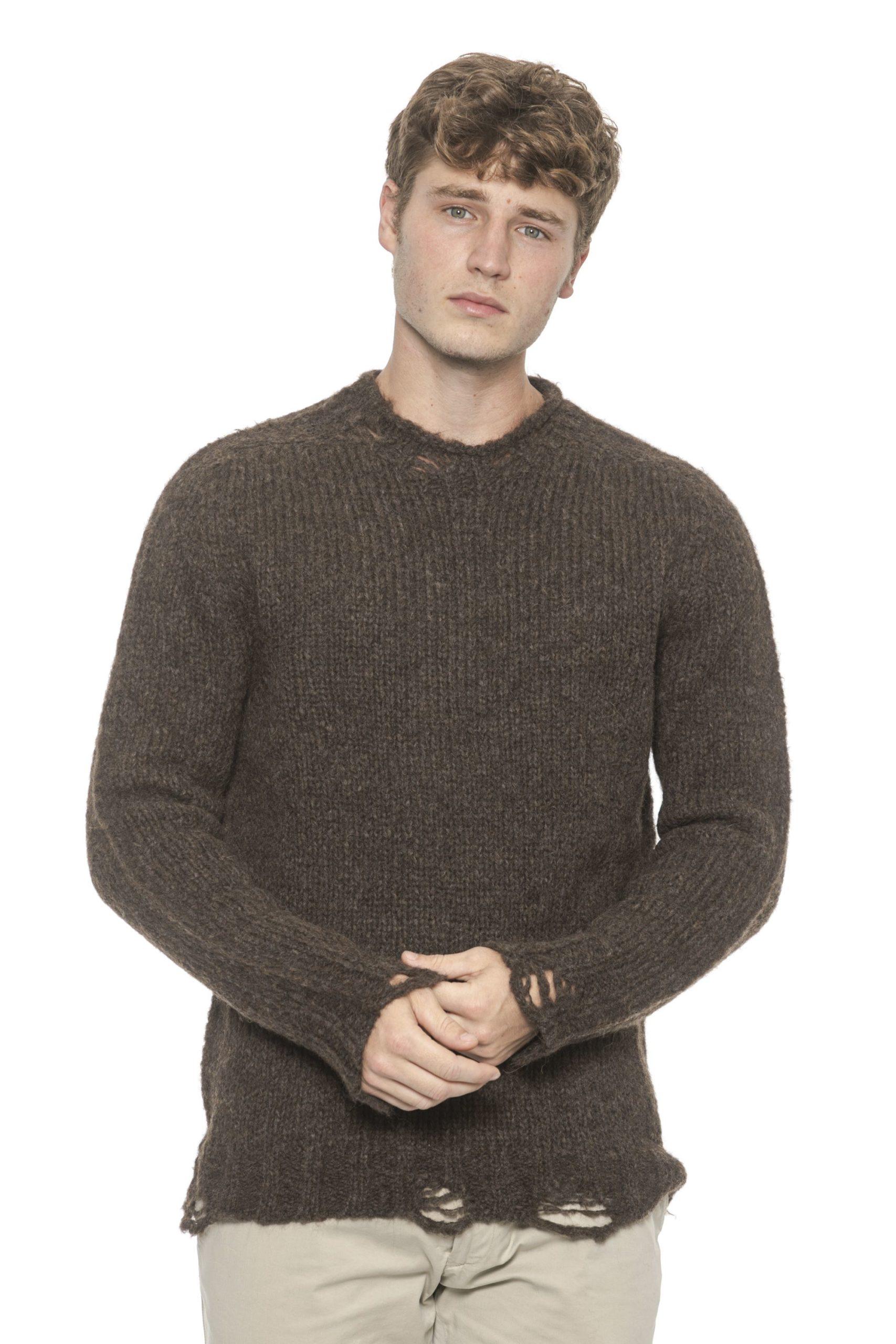 Alpha Studio Men's Moro Sweater Brown AL1314512 - IT48 | M