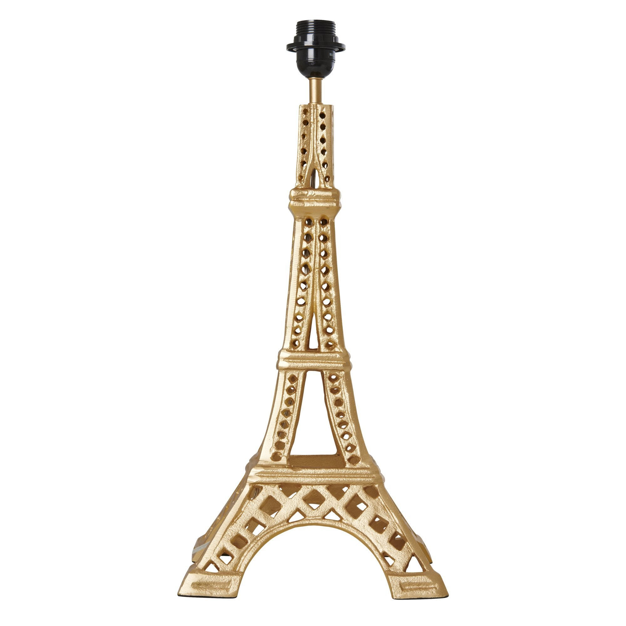 Rice - Metal Gold Table Lamp in Eiffel Tower Shape - Large