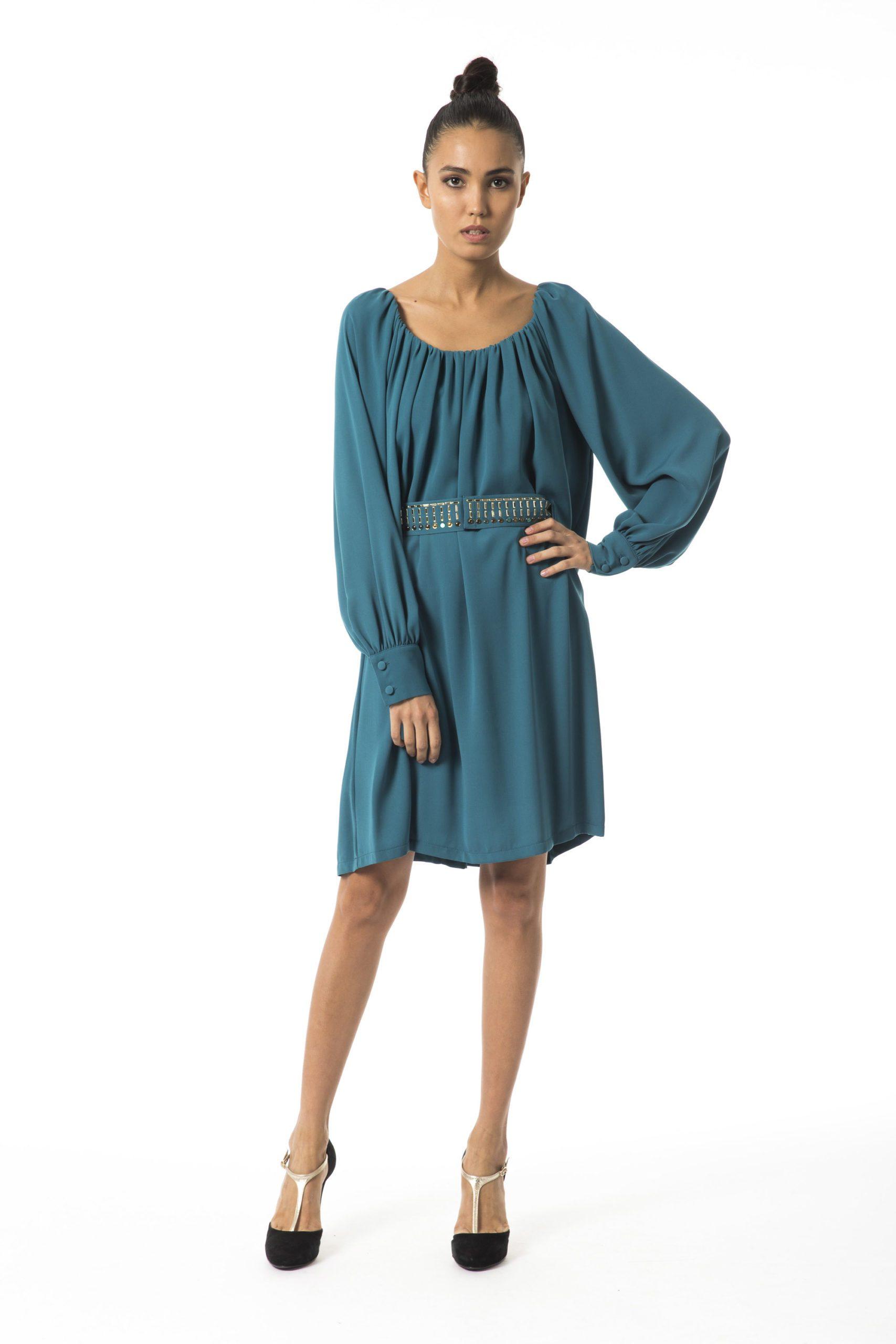 Byblos Women's Long Sleeve Dress BY996536 - IT40 | XS