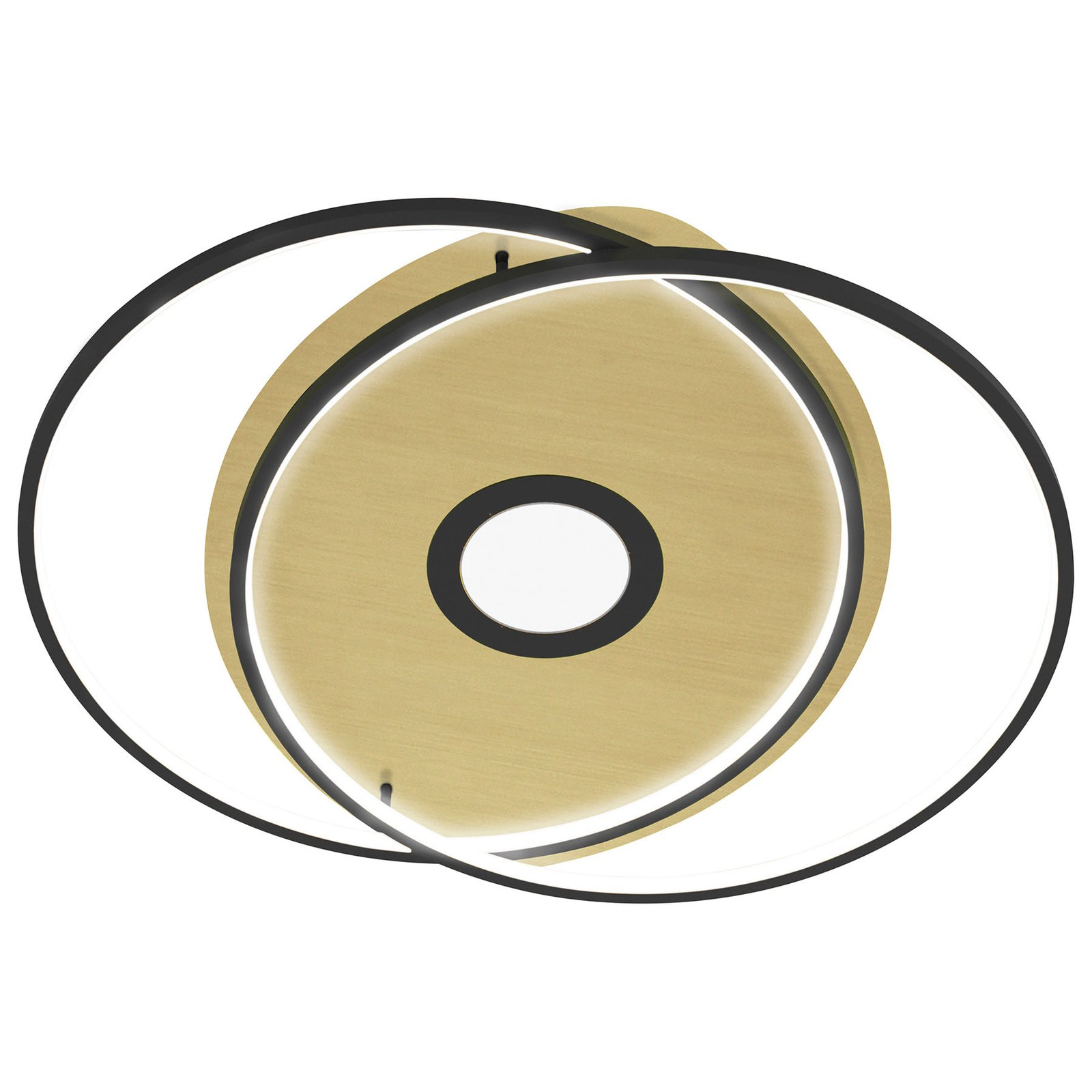 Paul Neuhaus Q-AMIRA LED-taklampe oval, svart