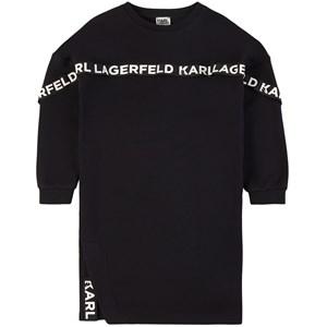 Karl Lagerfeld Kids Logo Tape Mjukis-klänning Svart 5 år