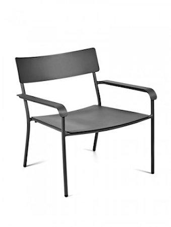 August Lounge Chair - Svart