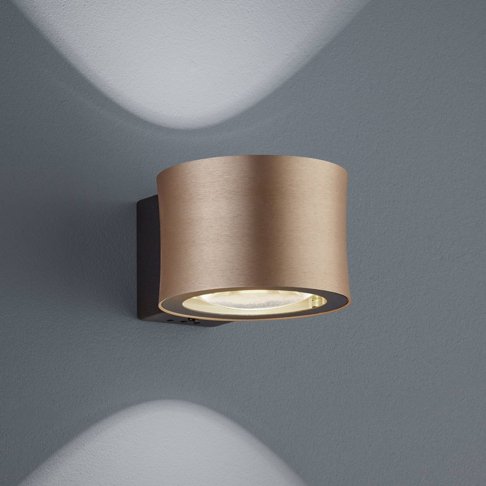 BANKAMP Impulse LED-seinävalaisin ruusukulta