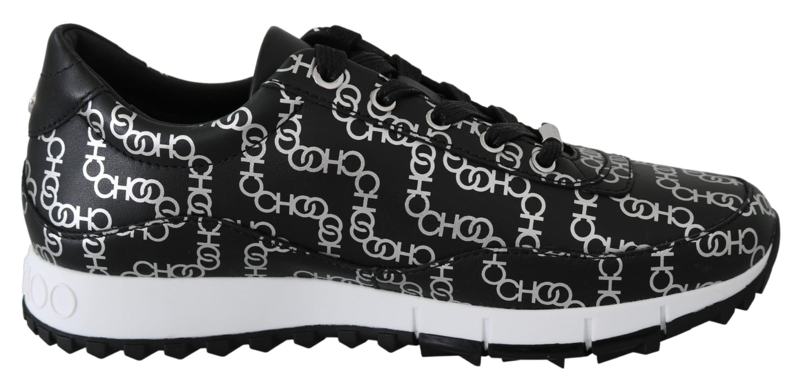 Jimmy Choo Women's Monza Sneakers Black Silver 1436431 - EU36/US6