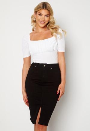 Happy Holly Elina midi denim skirt Black 36