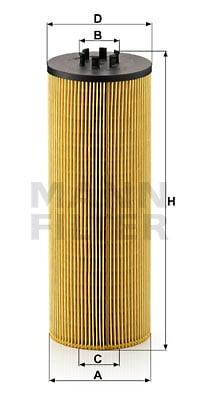 Öljynsuodatin MANN-FILTER HU 12 140 x