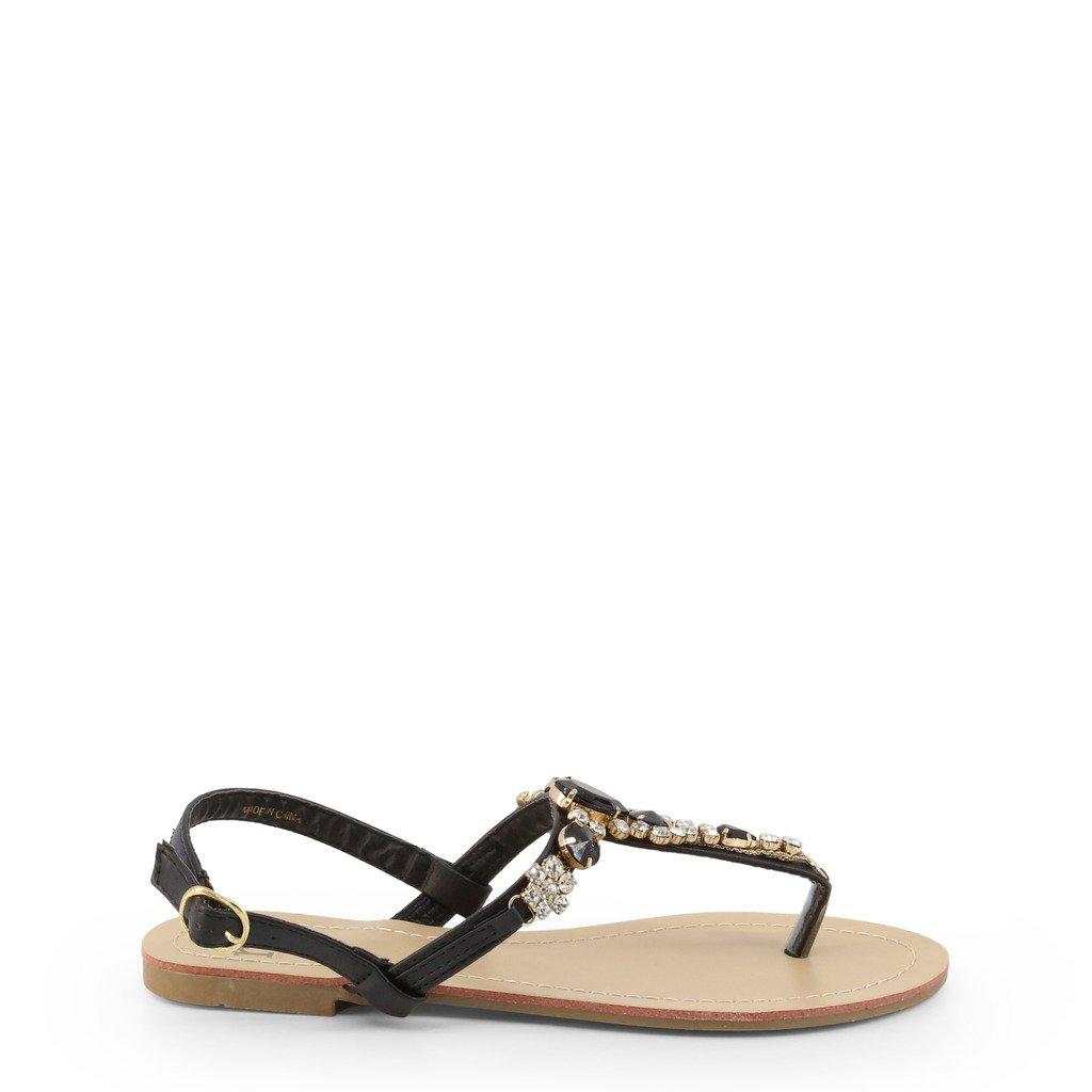 Roccobarocco Women's Sandal Black RBSC1BP02 - black EU 35
