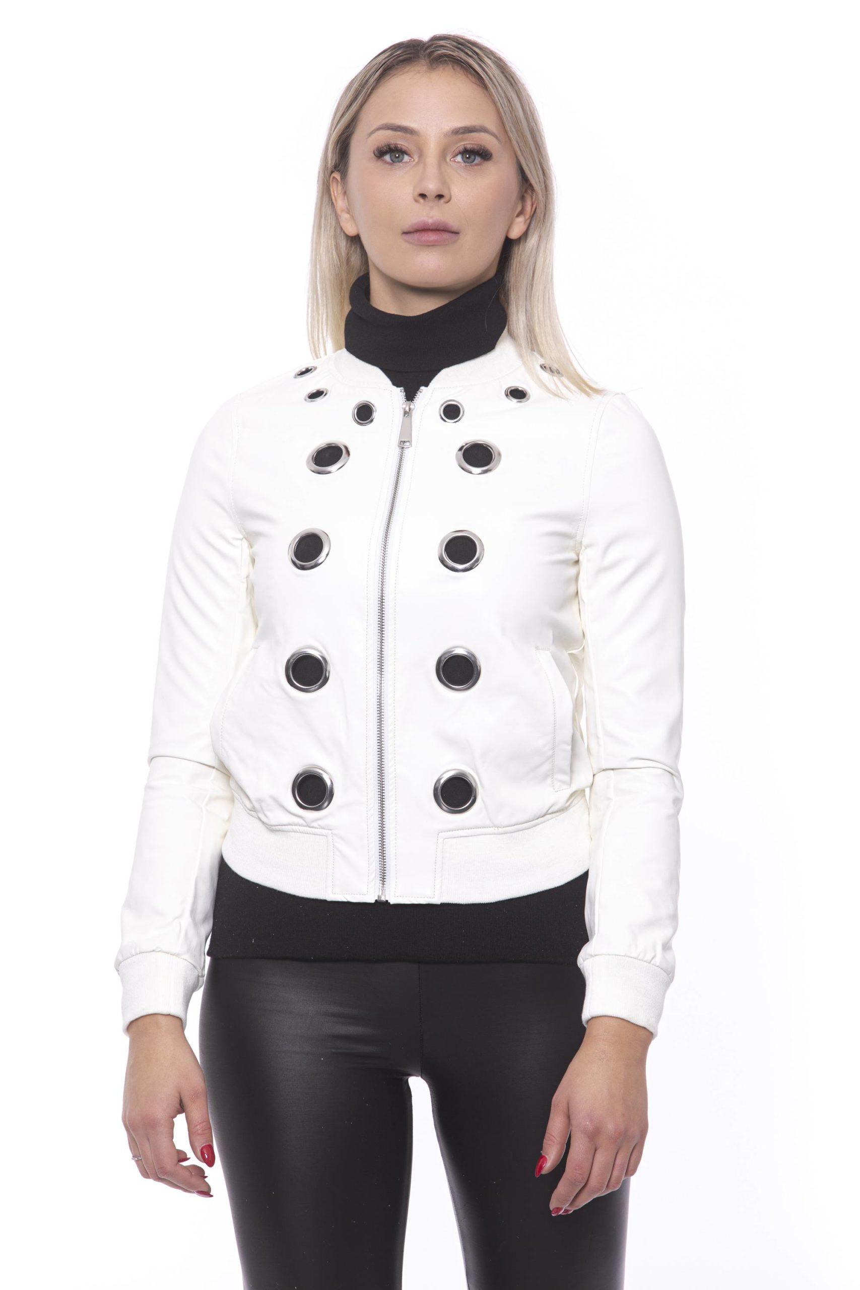 19V69 Italia Women's Bianco Jacket White 191388406 - IT42 | S