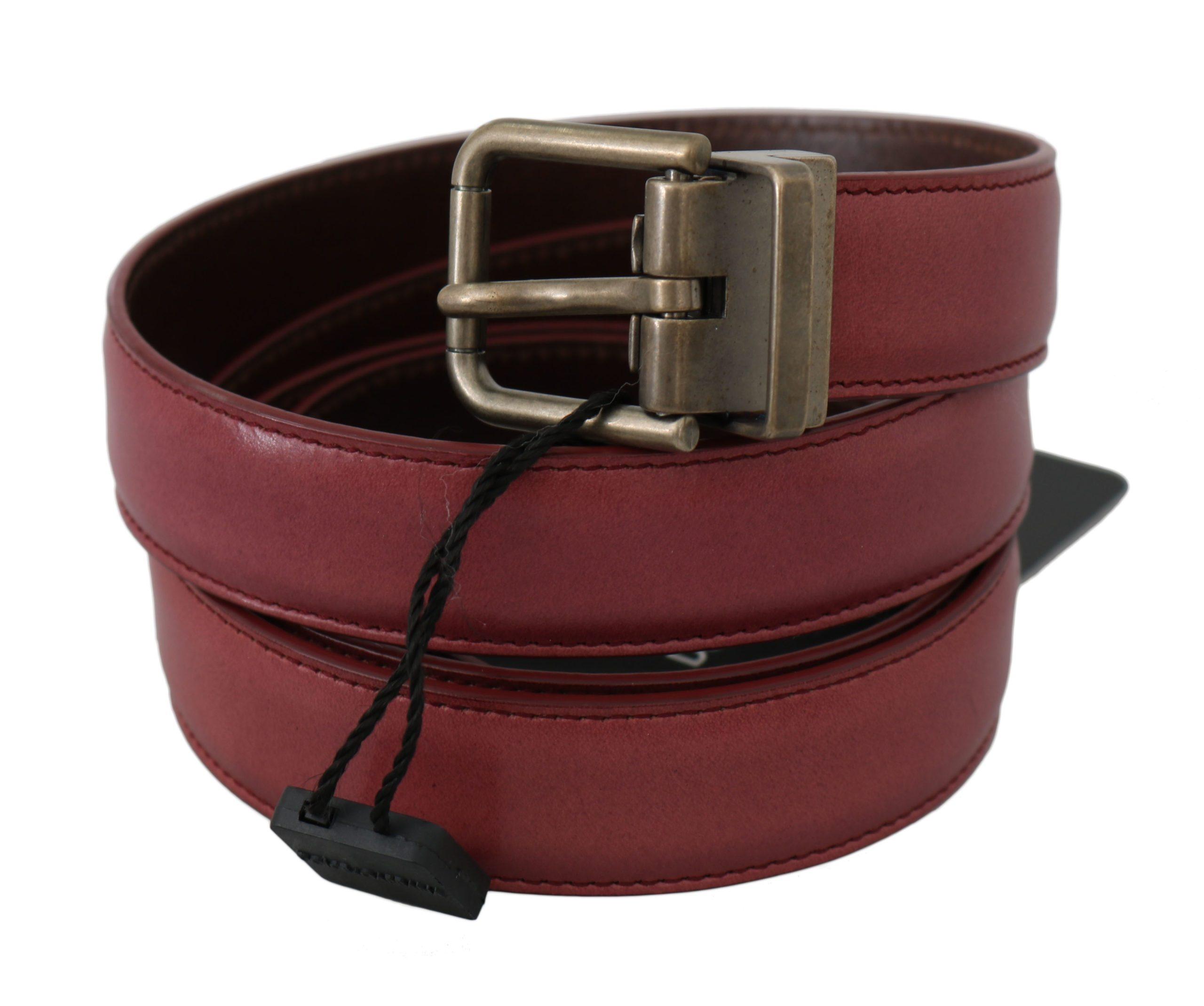 Dolce & Gabbana Men's Leather Metal Buckle Belt BEL60351 - 110 cm / 44 Inches