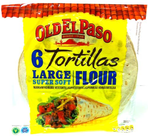6 Tortillas Large Soft - 66% rabatt