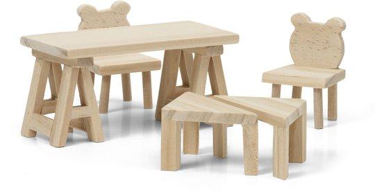 Lundby Dukkehustilbehør Bord Og Stoler DIY