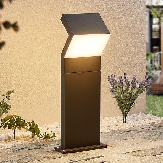 Arcchio Havin -LED-pollarivalaisin, tummanharmaa