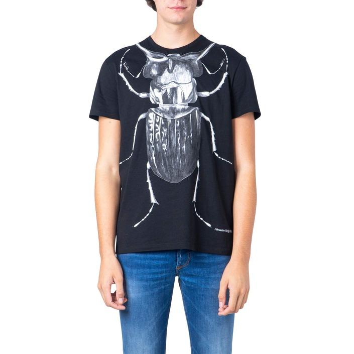 Alexander Mcqueen Men's T-Shirt Black 183120 - black XL