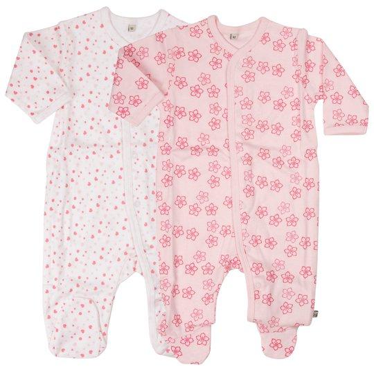 Pippi Pyjamas 2-Pack Light Rose str 50