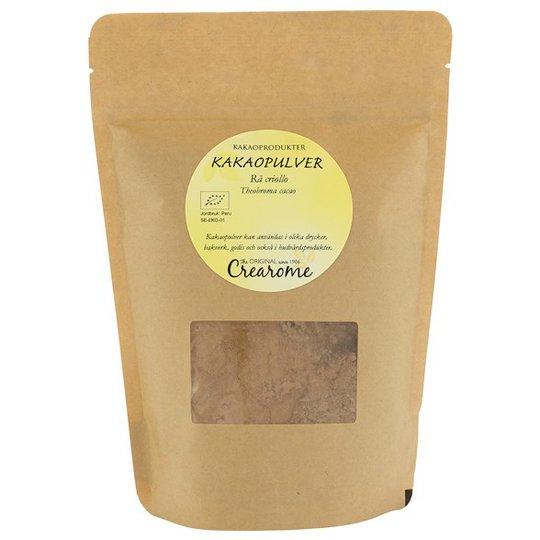 Crearome Ekologiskt Kakaopulver Rå Criollo, 300 g