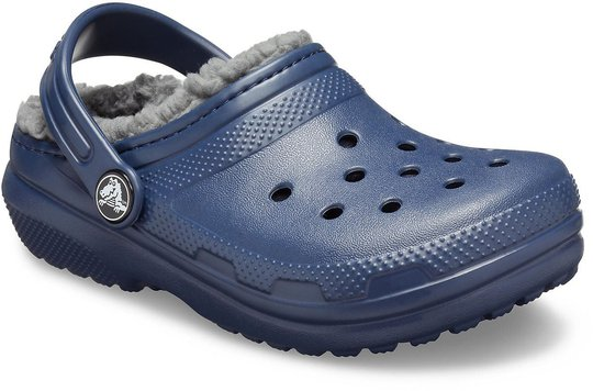 Crocs Classic Lined Clog, Navy/Charcoal, 27-28