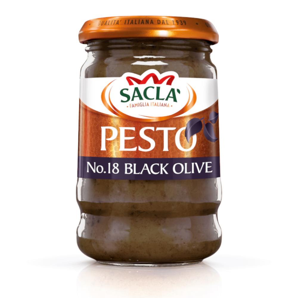 Sacla' Black Olive Pesto 190g