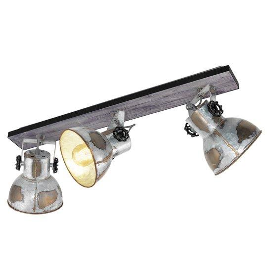 Kattovalo Barnstaple industrial-tyyli 3 lamppua