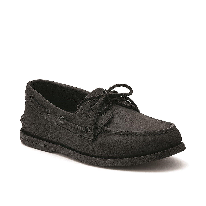 Sperry Men's Authentic Original Leather Boat Shoe Various Colours 31524 - Black 12