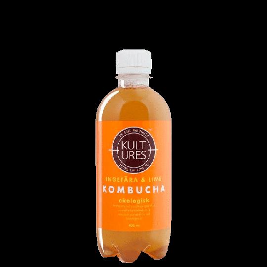 Kultures Kombucha Ginger Lime, 400 ml