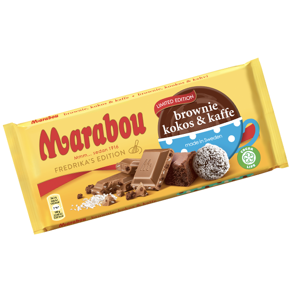 Marabou Brownie, Kokos Kaffe 185g