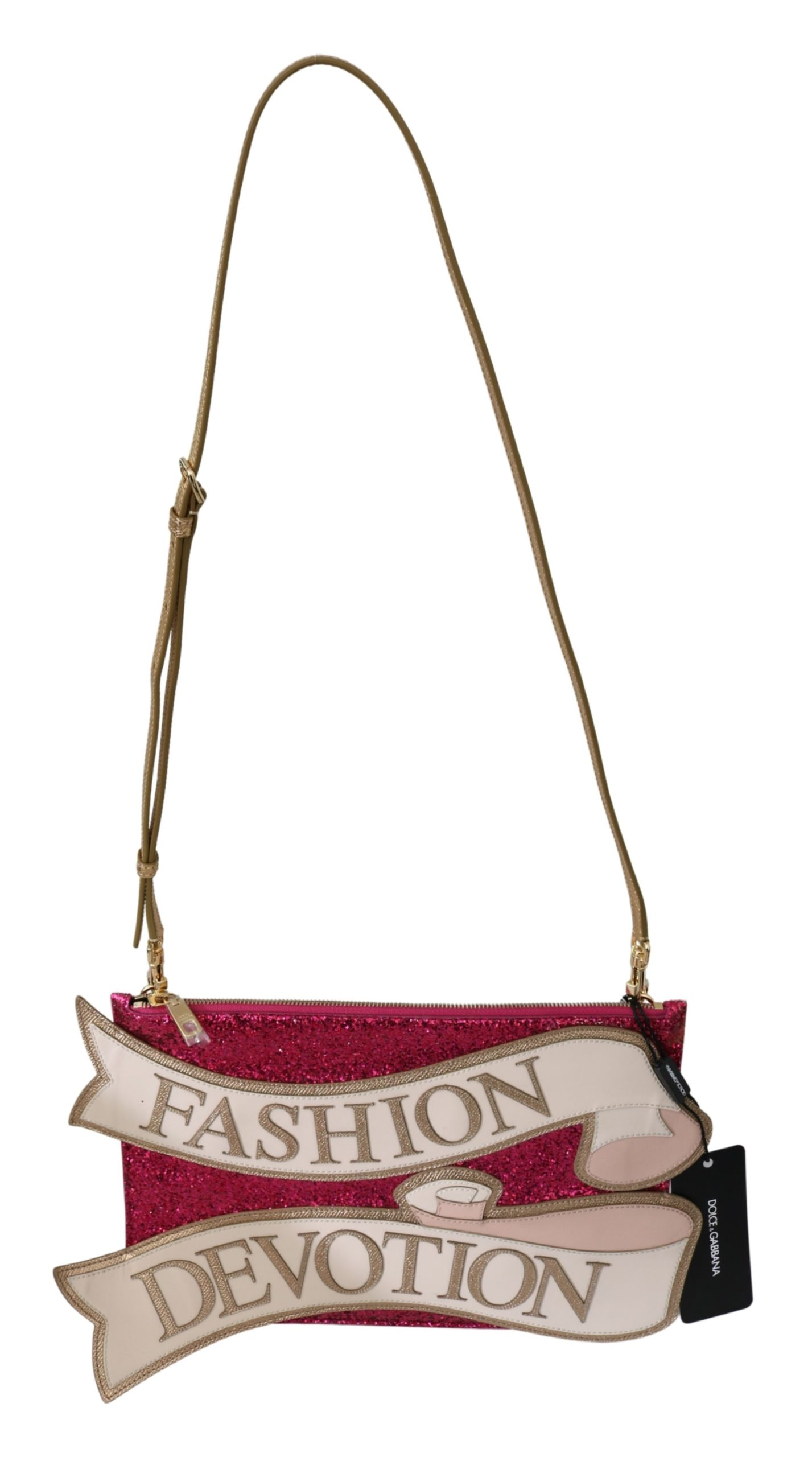Dolce & Gabbana Women's Glittered Fashion Devotion Shoulder Bag Pink VAS9857