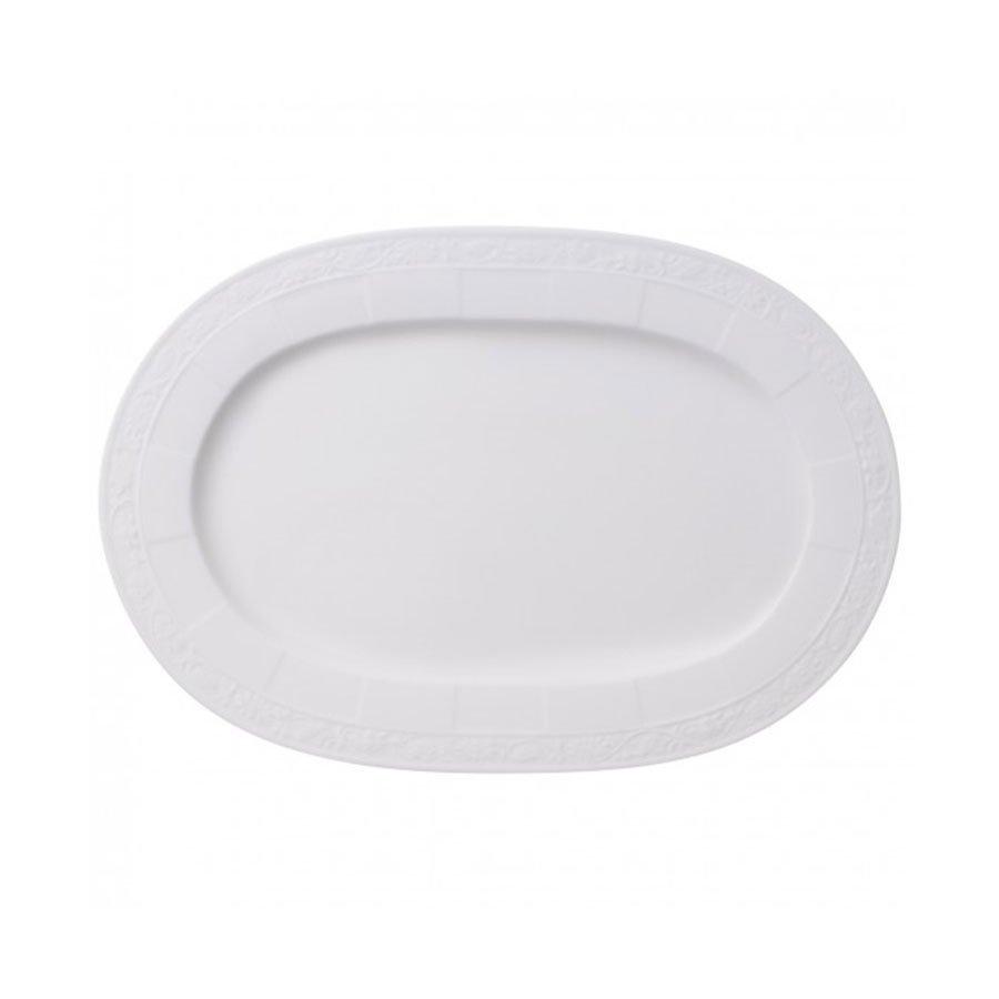 Villeroy & Boch White Pearl Fat 35cm Oval
