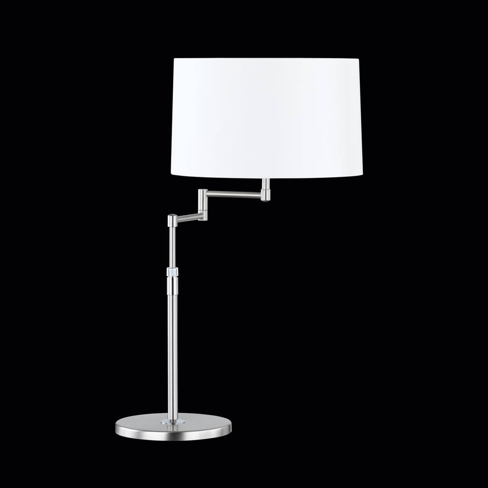 Iøynefallende bordlampe Loop med chintz-skjerm