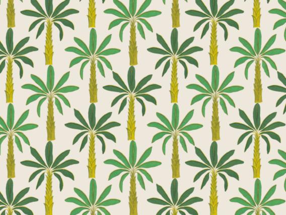Tropical Wallpaper Sample: Porcelain White-T1902PWS