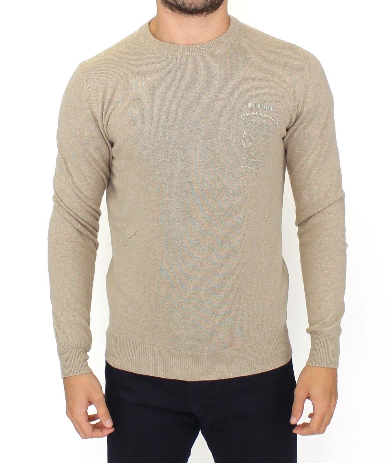 Ermanno Scervino Women's Cashmere Crew Neck Sweater Beige SIG10103 - IT54   XXL