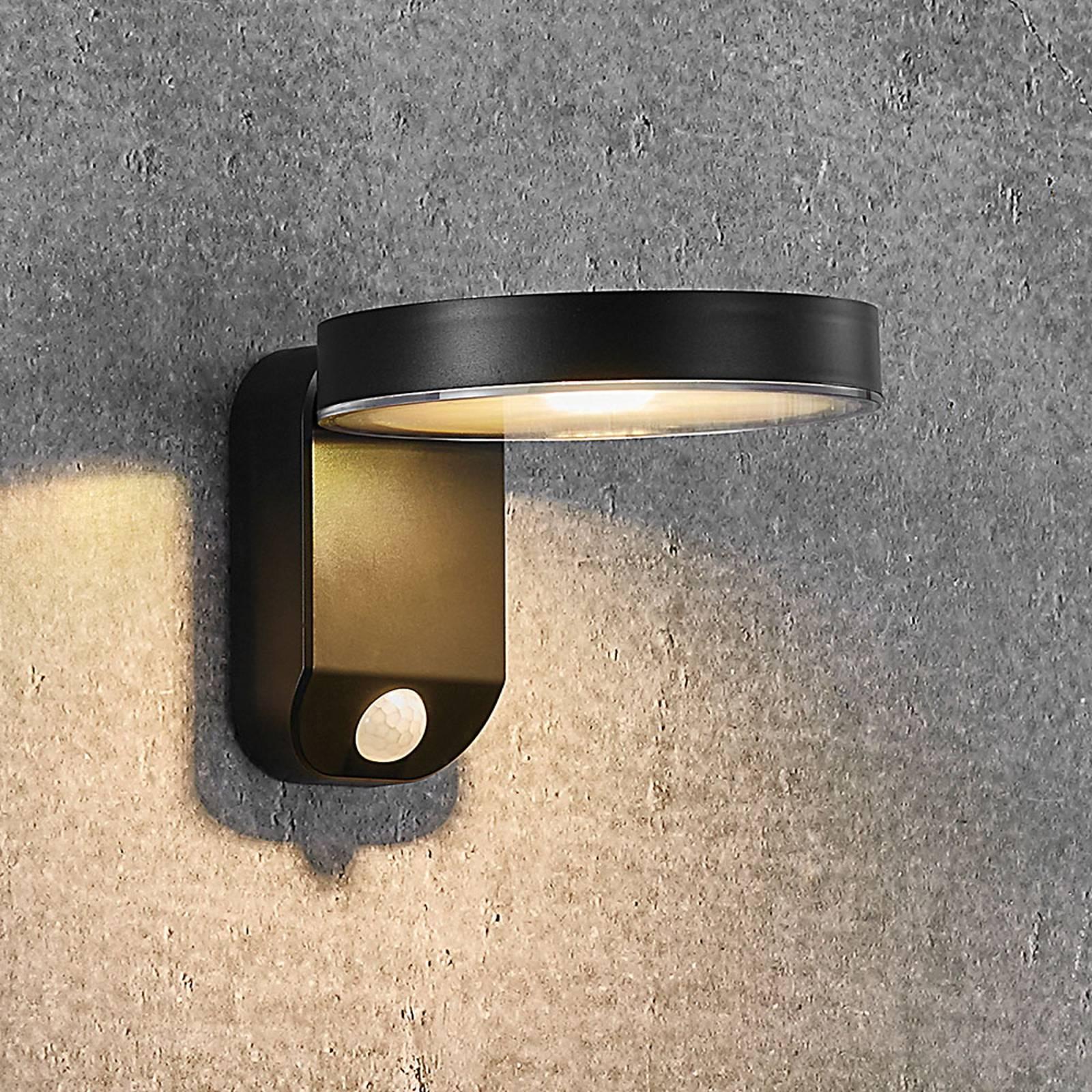 Aurinkokäyttöinen LED-seinävalo Rica Round, pyöreä