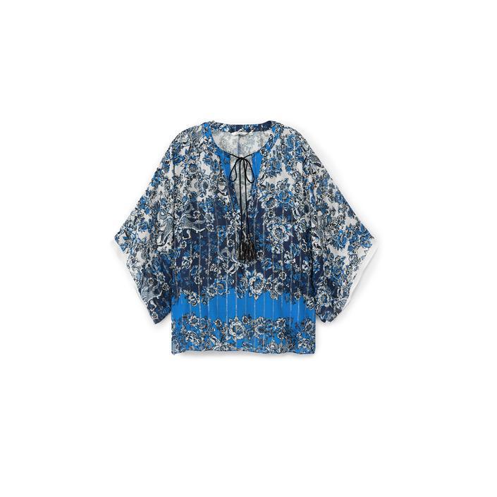 Desigual Women's Top Blue 172401 - blue S