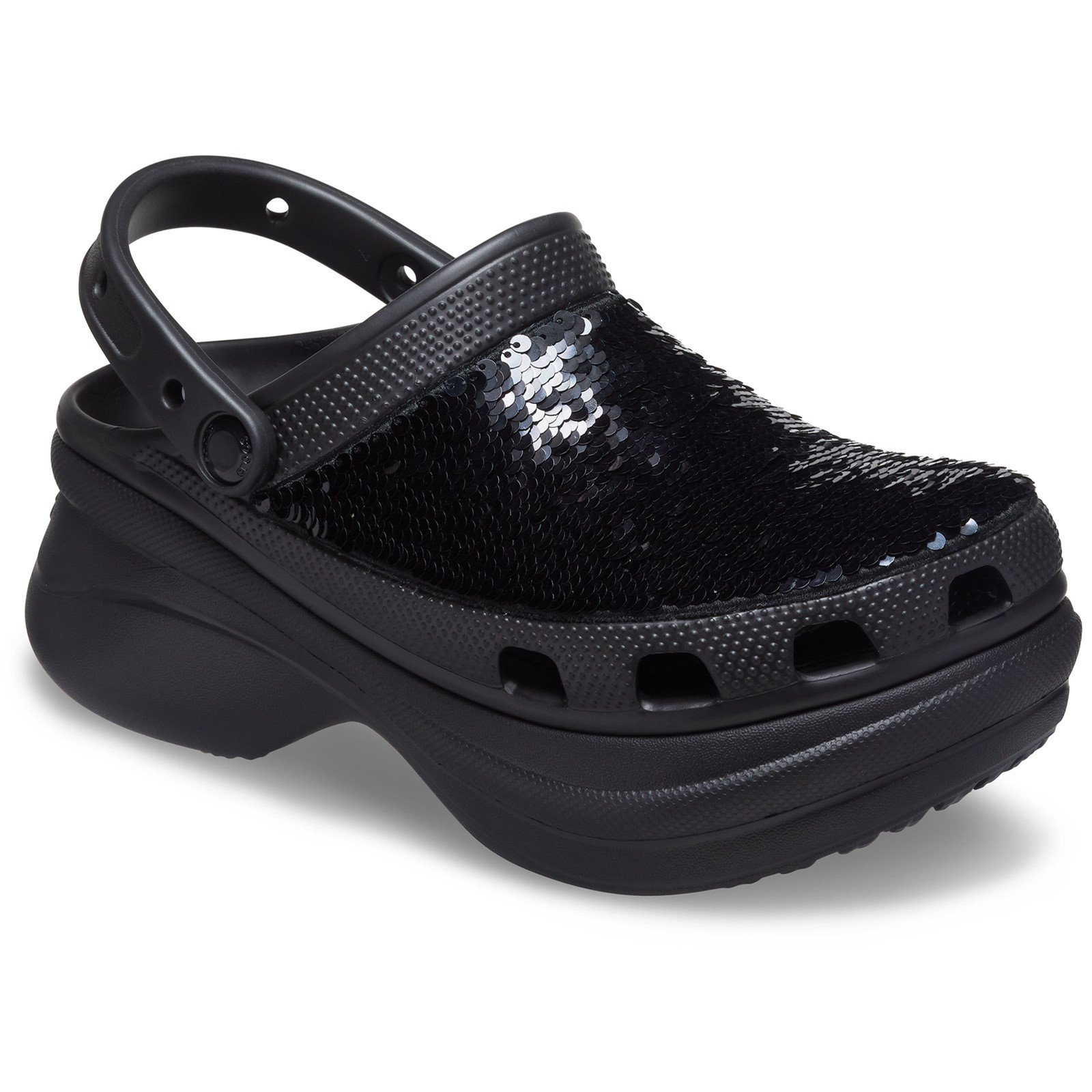 Crocs Women's Classic Bae Sequin Clog Multicolor 33511-57313 - Black/Multi 3