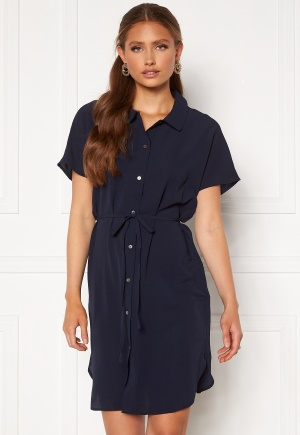 ONLY Nova Lux S/S Shirt Dress Solid Night Sky 36