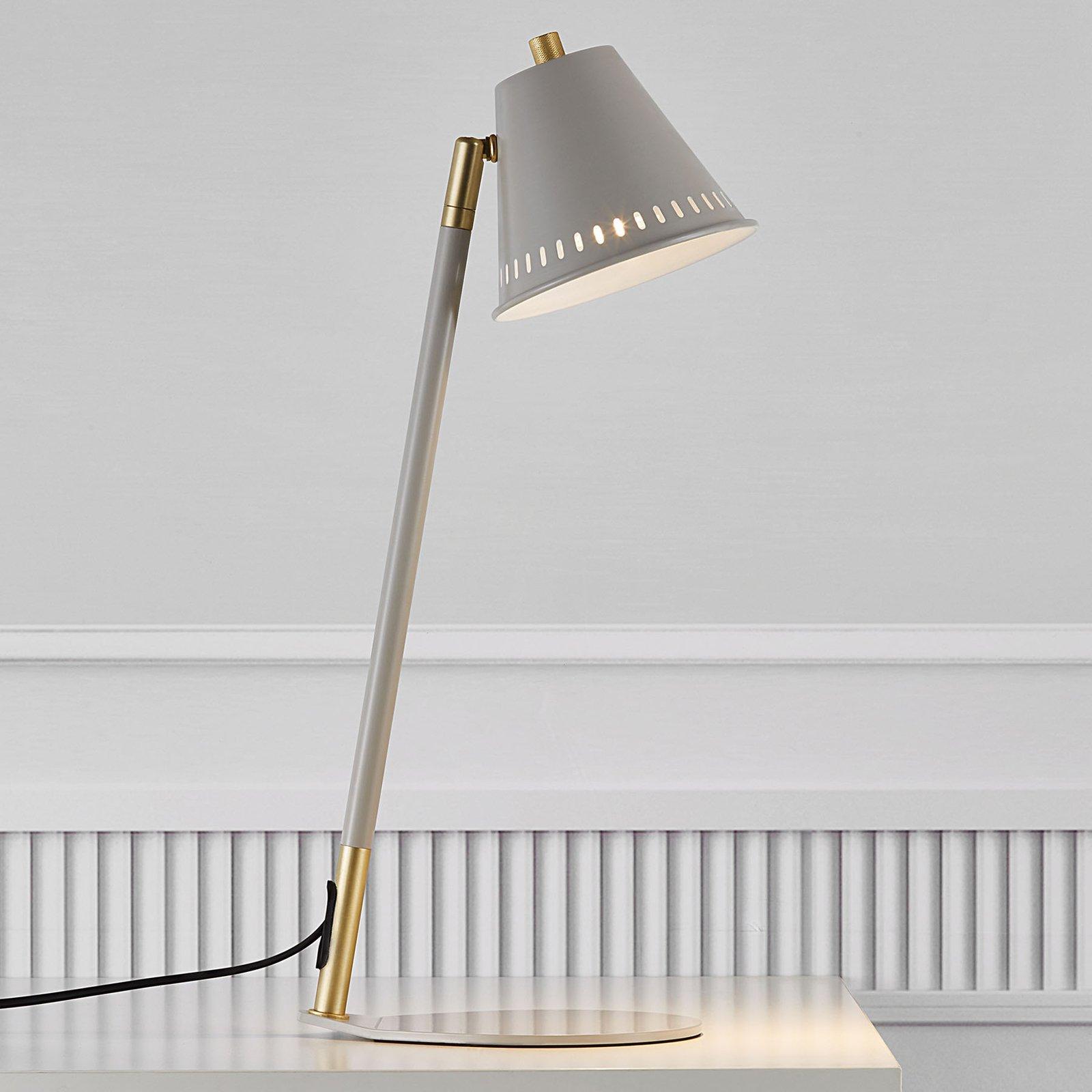 Bordlampe Pine, grå
