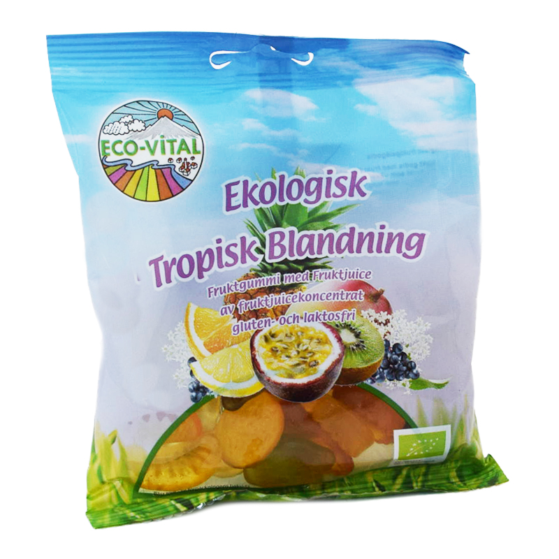 Eko Godisblandning Tropiska Frukter 90g - 80% rabatt