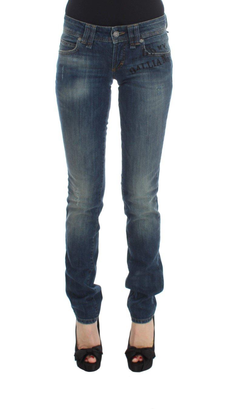 John Galliano Women's Cotton Blend Slim Fit Jeans Blue SIG30187 - W26