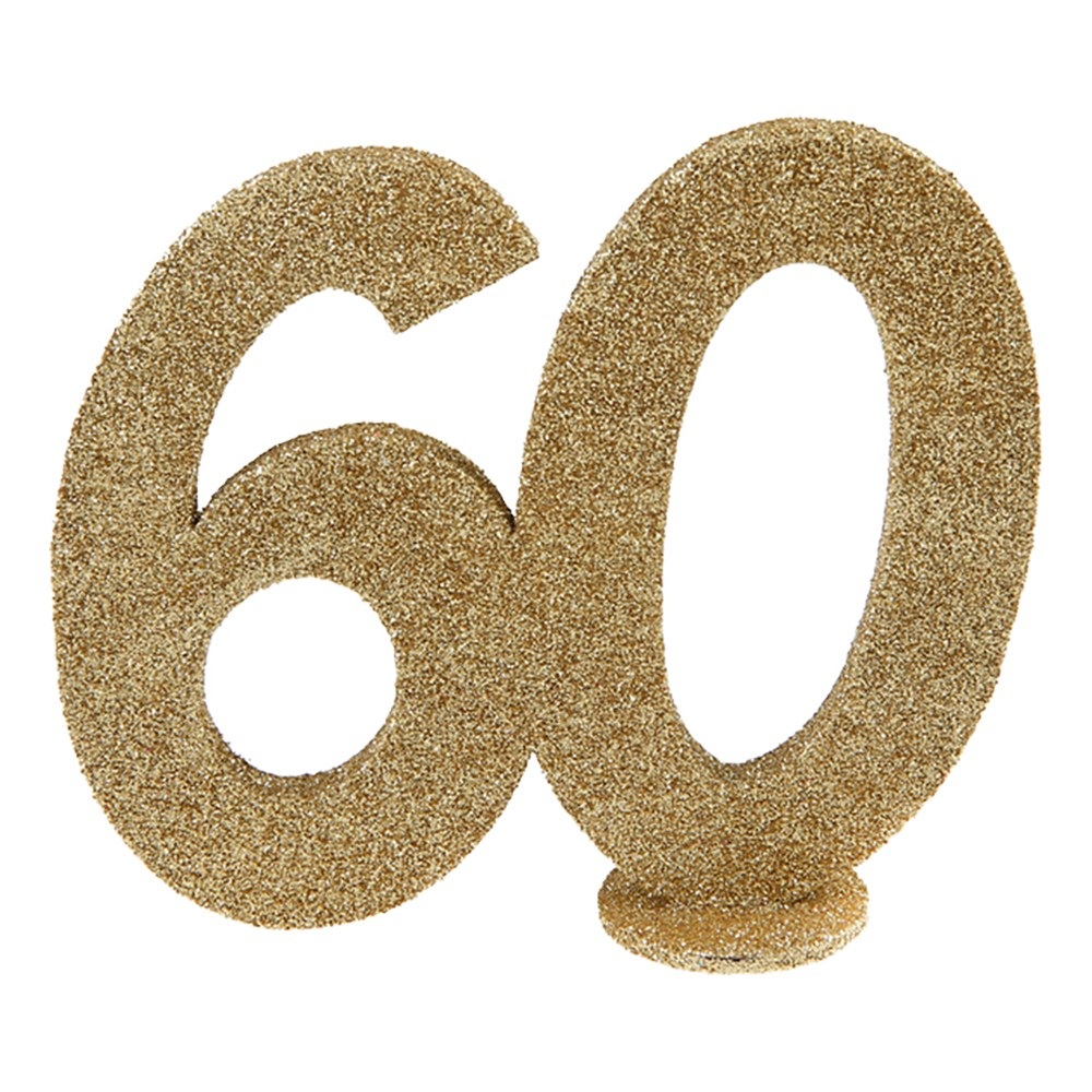 Bordsdekoration Siffra Guld/Glitter - Siffra 60