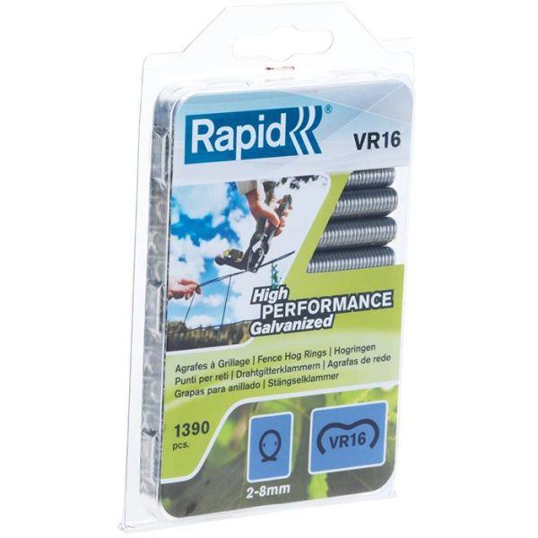 Rapid VR16 Rundklammer sølv 1390-pakning