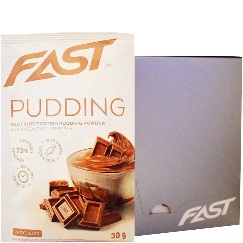 "Hel Låda Proteinpudding ""Chocolate"" 20 x 30g - 91% rabatt"