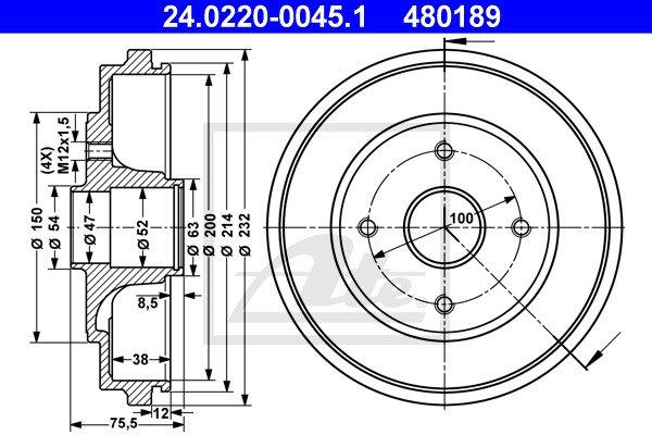 Jarrurumpu ATE 24.0220-0045.1