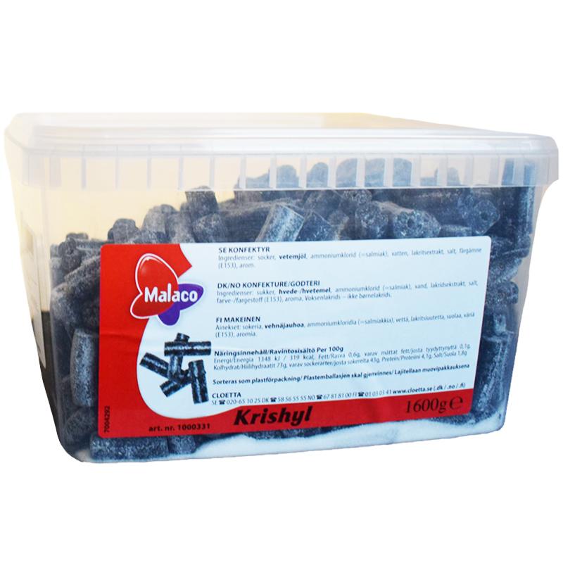Laatikollinen Lakritsimakeisia 1,6kg - 70% alennus